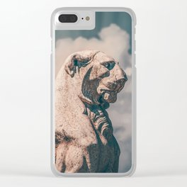 WINGED ROMAN LION Clear iPhone Case
