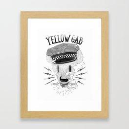 Bad Taxi Driver Framed Art Print