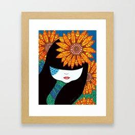 Sunny Girl Framed Art Print