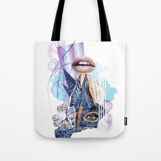 Zebra Kiss Tote Bag