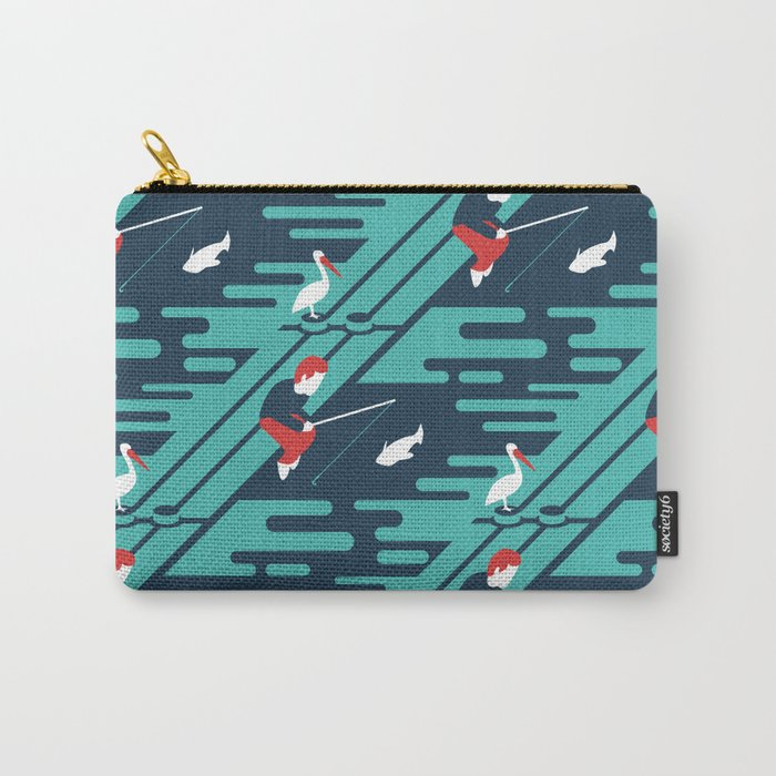 Fishing on the Dock Pattern Carry-All Pouch