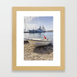 When I Grow Up I Want To Be A Warship Framed Art Print