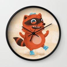 Rollerblade Raccoon Wall Clock