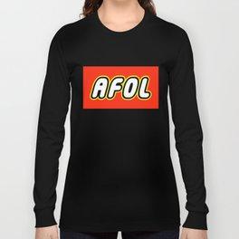 AFOL ADULT FAN OF LEGO in Brick Font by Chillee Wilson Long Sleeve T-shirt