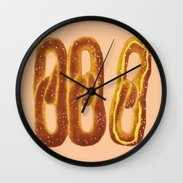 Philly Soft Pretzels Wall Clock
