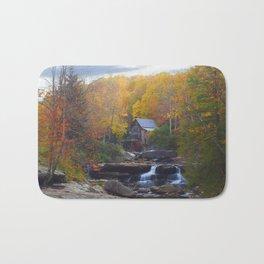 Glade Creek Mill in Autumn Bath Mat