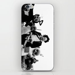 Leatherface with Teletubbies iPhone Skin