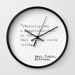 Mark Twain Notebook Wall Clock