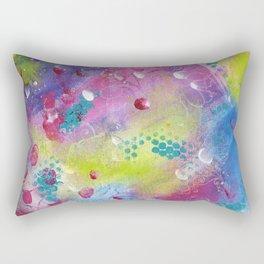 The Love Tree   Original painting by Mimi Bondi Rectangular Pillow