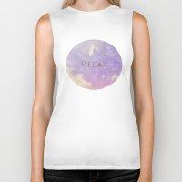 relax Biker Tanks featuring Relax by Rachel Burbee