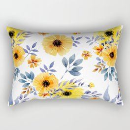 FLOWERS WATERCOLOR 10 Rectangular Pillow