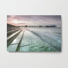 Blackpool North Pier Curve Metal Print