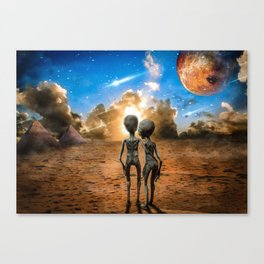Alien Love Canvas Print