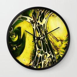 Tint Blot - Cracked Glass Yellow Wall Clock