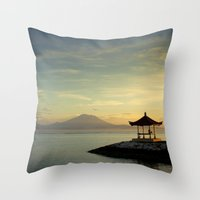 serenity Throw Pillows featuring serenity by Dirk Wuestenhagen Imagery