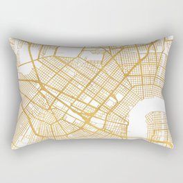 NEW ORLEANS LOUISIANA CITY STREET MAP ART Rectangular Pillow