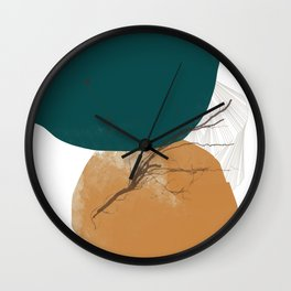 Rooted 6 Mid-Century Monoprint Wall Clock