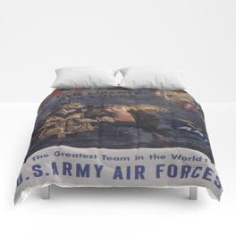 Vintage poster - Air Forces Comforters
