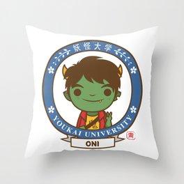 Yokai Daigakku - ONI Throw Pillow
