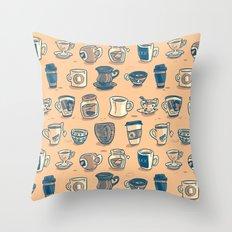 Coffee & Tea Throw Pillow