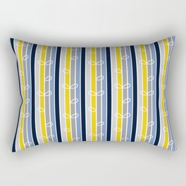 flower stripe Rectangular Pillow