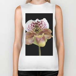 isolated orchid on black background Biker Tank