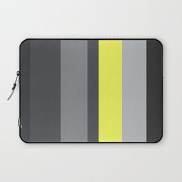 black and yellow Laptop Sleeve