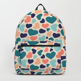 Irregular heart shapes colors Backpack