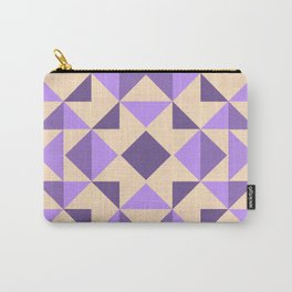 PURPLE AZTEC GEOMETRY Carry-All Pouch