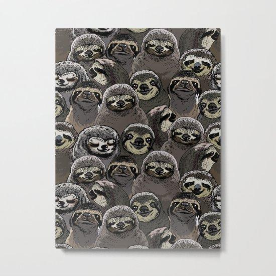 Social Sloths Metal Print