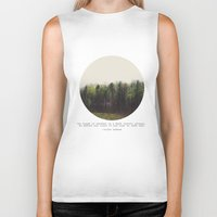forest Biker Tanks featuring Dark Forest by Tina Crespo