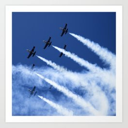 Flying formation Art Print