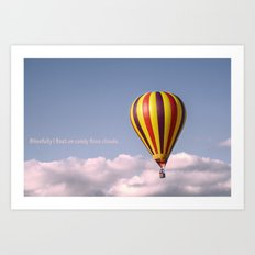 Candy floss clouds Art Print