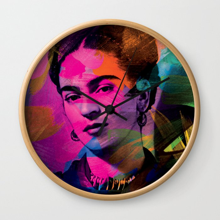 Frida Kahlo - Colors Wall Clock