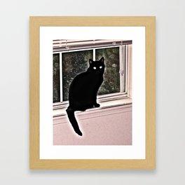 black ghost Framed Art Print