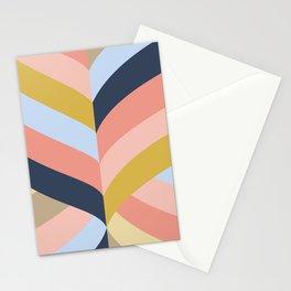 SUNSET MINIMAL STRIPES Stationery Cards