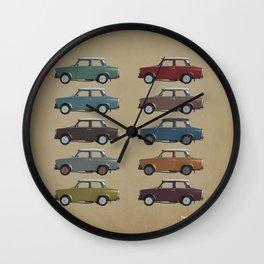 Five Trabants Wall Clock