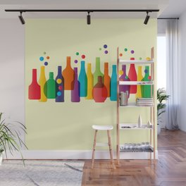 Colored bottles Wall Mural