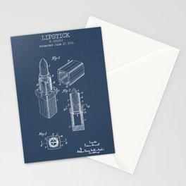 Lipstick blueprints Stationery Cards