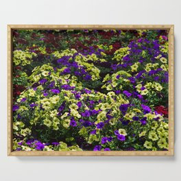 Waves of Petunias Serving Tray