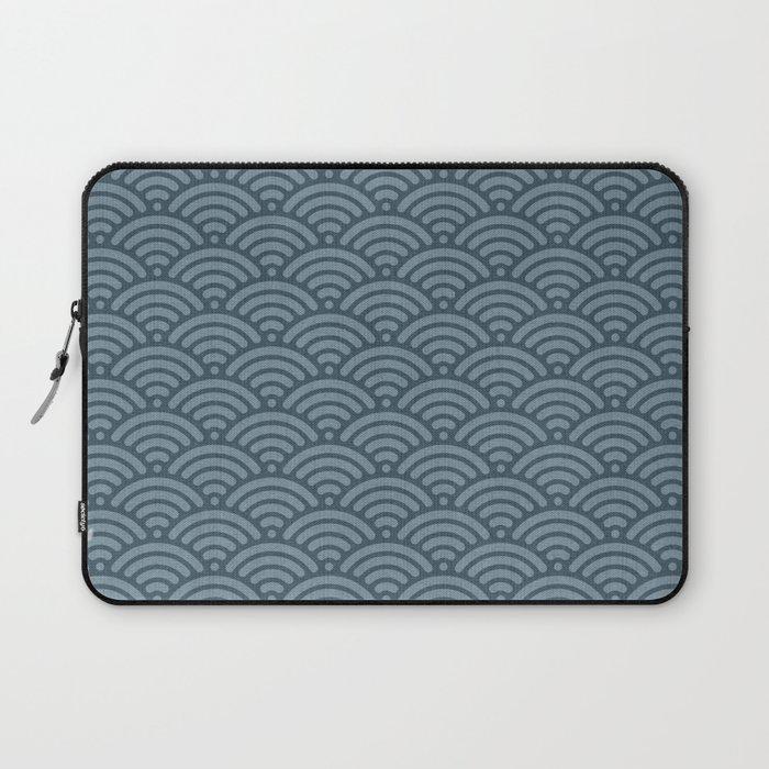 Blue Indigo Denim Waves Laptop Sleeve