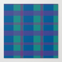 The Turquoise and Purple Check Canvas Print