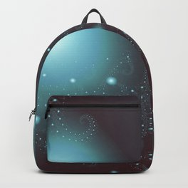 Blue Cosmos Abstract Fractal Art Backpack