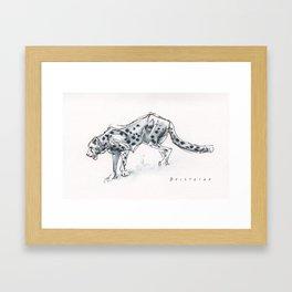 Cheetah Gesture Drawing Framed Art Print