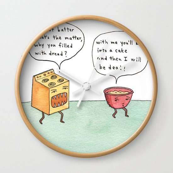 bowl of batter, what's the matter Wall Clock