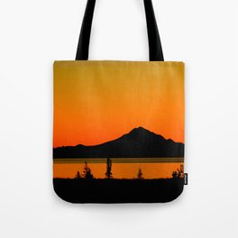 Sunset Silhouette, Mt. Redoubt - Alaska Tote Bag