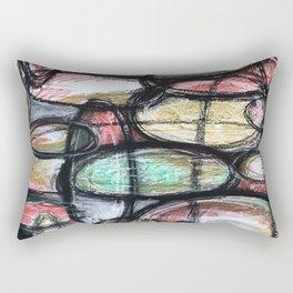 Abstract Ellipsis Rectangular Pillow