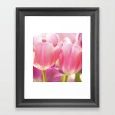 Tulips Glow Framed Art Print