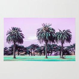 Three palm trees. Rug