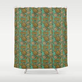 Mid century ochre Shower Curtain